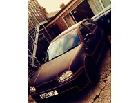 volkswagen golf tdi matte black red tron line
