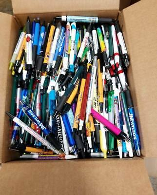 Bulk Box Of 500 Misprint Plastic Retractable Ball Point Pens - Wholesale Lot