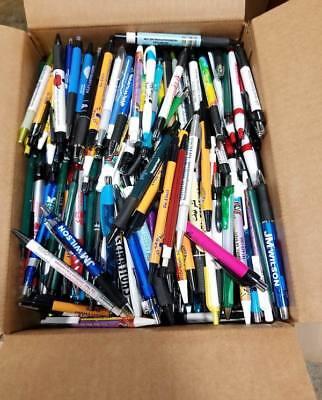 Bulk Box Of 500 Misprint Plastic Retractable Ball Point Pens - Wholesale Lot