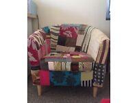 Patchwork Armchair & footstool