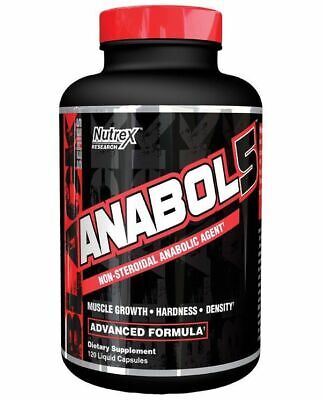 Nutrex ANABOL 5 Anabolic Muscle Growth Amplifier - 120 caps