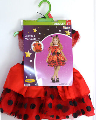 Disguise Ladybug Toddler Child 3 piece Dress Up Costume for Play, Size 2T, NWT! (Ladybug Costume For Baby)