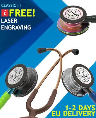 3m Littmann Classic Iii Stethoscopes Free Laser Engraving 1-2 Days Eu Delivery