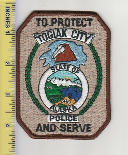 US Police Patch Togiak City Alaska Police Department