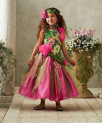 NEW Girls Chasing Fireflies Garden Princess Fairy Costume with Headpiece Size 6 (Garden Fairy Costume)