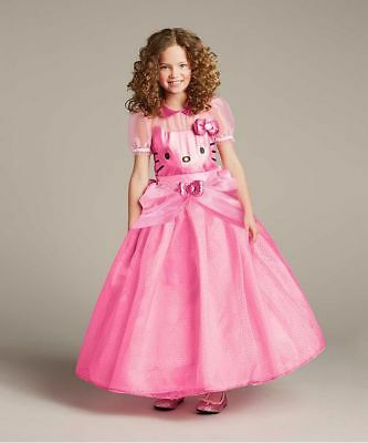 Hello Kitty Costume For Girls (Girls Size 10 Hello Kitty Gown Princess Party Dress Costume Chasing Fireflies)