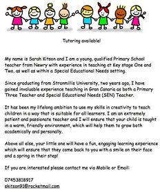 Private tuition available (Primary)