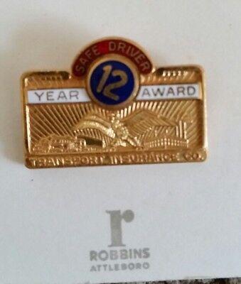 Transport Insurance Co 12 Year Safe Driver Award Pin