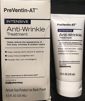 -   2 Boxes - PreVentin-AT Intensive Anti - Wrinkle Treatment Cream  Face  4.5 fl