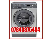 Silver hotpoint washing machine 8kg like new can deliver