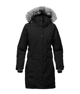 Women's North Face Tremaya Parka Down - small, black