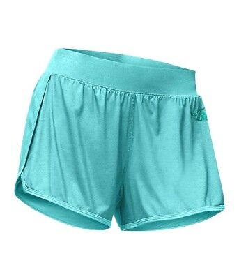 The North Face Women's Agate Green Versitas Athletic Sports Fitness Shorts XL