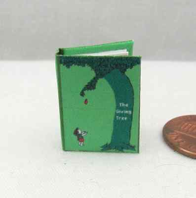 (THE GIVING TREE Miniature Book Dollhouse 1:12 Scale Readable Illustrated Book)