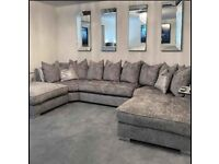 FACTORY PACKED   BRAND NEW U HSAPED SOFA SUIT IS IN STOCK    FREE DELIVERY   