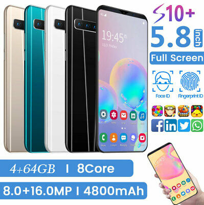 5.8 Zoll 4+64GB Android 9.1 Handy Smartphone Octa Core Dual SIM 4800mAh