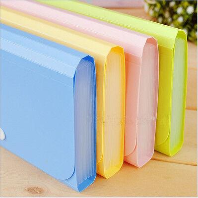 File Bag Pouch Bills Receipts Folder Card Holder Organizer Fastener Nh