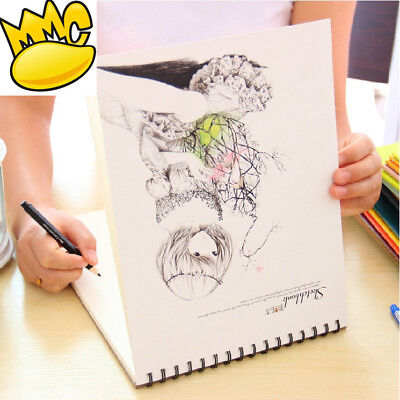 """""""Long Hair"""" 1pc Big Drawing Notebook Sketchbook Cute Art Blank Papers Notepad"""