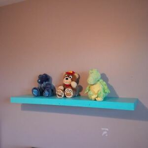 Turquoise Floating Shelf