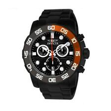 Invicta 21556 Men's Pro Diver Black IP Chronograph Watch with Orange/Grey Bezel
