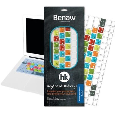 Benaw Hotkeys - Keyboard Skin Adobe Photoshop for MacBook / Pro / Air / Wireless