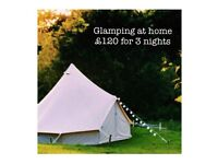 The Happi Glamping Company, Bell Tent 5m *HIRE* Staffordshire/South Cheshire
