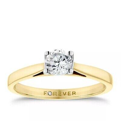 h samuel forever diamond ring .38 / 18ct gold