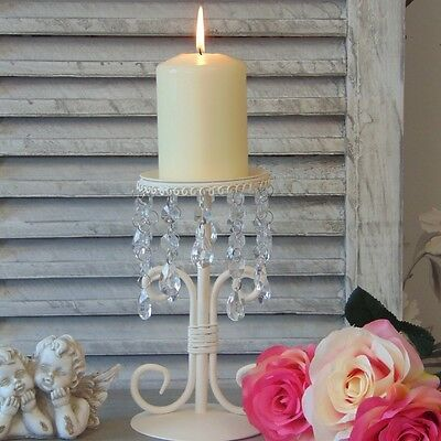 Cream Candle Holder Candelabra Dining Table Wedding Shabby Vintage Chic Home