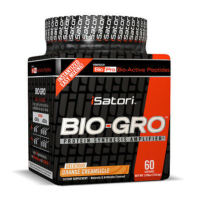 Isatori Bio Gro Orange Creamsicle   Muscle Amplifier  60 Servings  Best By 7 17