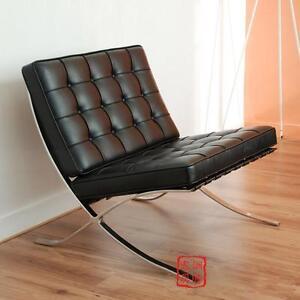 Black Barcelona Leather Chair Classic Verison