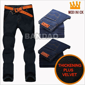 Mens-plus-velvet-thickening-jeans-casual-pants-male-trousers-winter-keep-warm