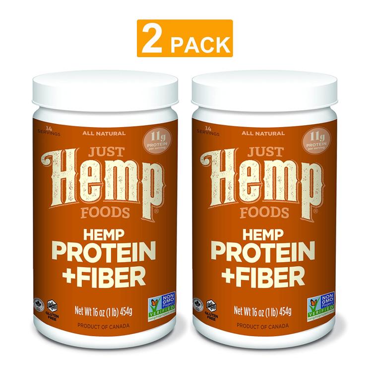 Just Hemp Foods Hemp Protein Powder Plus Fiber Non-GMO