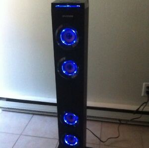 Bluetooth Tower with radio, USB connection and aux input
