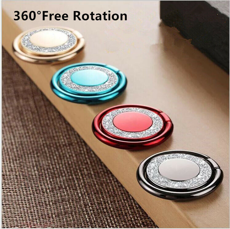 Universal 360° Rotating Finger Ring Stand Holder For Phone Bling Glitter Cell Phone Accessories