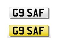 G9 SAF PRIVATE CHERISHED NUMBER PLATE