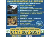 G & G groundwork's & demolition (plant hire) digger dumper and driver hire