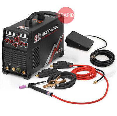 Ck Worldwide Mt200 Acdc Tig Welder Package With Torch Foot Pedal 115230v