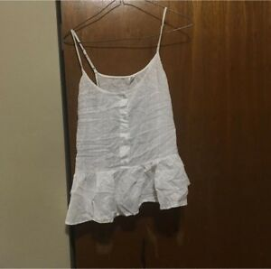White tank top with buttons size medium pick up only