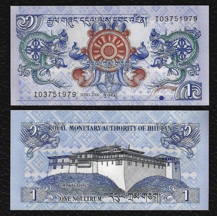 BHUTAN 1 Ngultrum, 2006, P-27, UNC World Currency