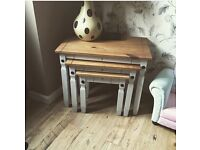 3 tier shabby chic tables