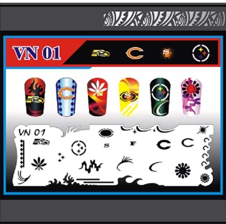 Nail Art Airbrush Stencils (VN 01-10)
