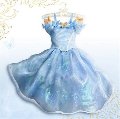 Luxury Cinderella Princess Girl Fancy Dress Disney Cartoon Costume Birthday Gift - Luxury Fancy Dress Costumes