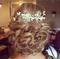 On site hairstylist for your wedding day!
