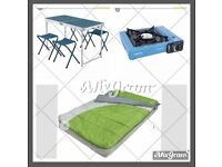 Camping gear Set camping bed stove and table