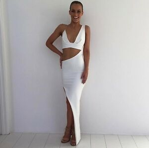 White Natalie Rolt formal dress size 8 Neutral Bay North Sydney Area Preview