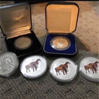 Mixed Pure silver coin set