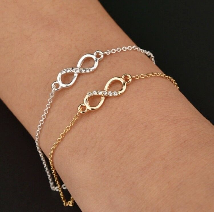 Armband Armkette Kette Strass silber gold glitzer unendlich Freundschaftsarmband