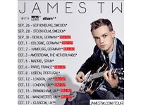 2 James TW Concert Tickets, Glasgow, King Tut's