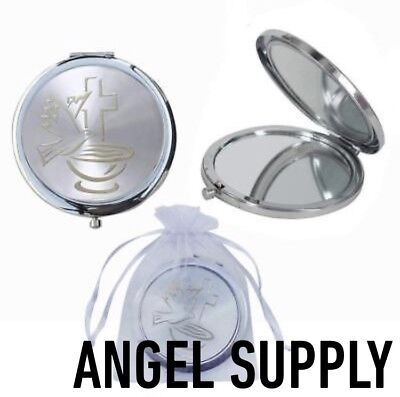 24Baptism Party Favors Holly Cup Compact Mirror First Communion Bautizo ()