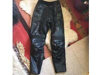 Hein Gericke Black Women's Trousers 38 Uk10 Motorcycle/Bike Leathers £90ono