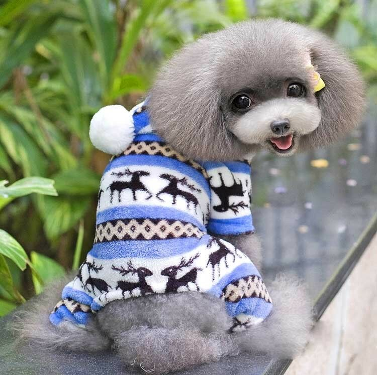 Pet Dog Cat Puppy Warm Clothes Sweater Hoodie Jumpsuit Cute Coat Outwear Jacket